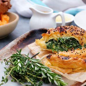 Ricotta, spinach & squash pithivier (vegetarian)